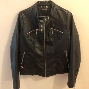 JouJou black moto jacket, size L, brand new!